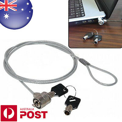 Laptop Notebook Computer PC Anti-Theft Cable Chain Security Lock + 2 Keys - D094