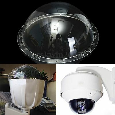 9 Inch Indoor / Outdoor Acrylic Camera Dome Housing Clear Cover CCTV Replacement