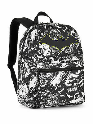 8a3f3b2ca58 Batman Backpack School Bag DC COMICS 16 in Standard Full Size Comic Print  NEW!