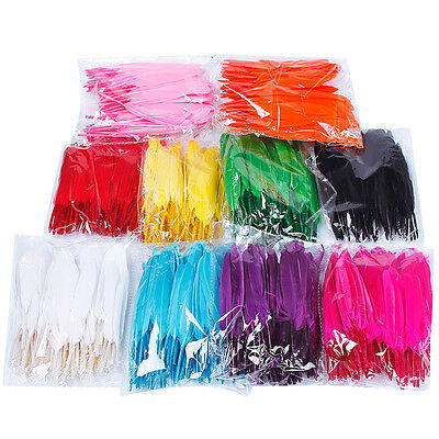 Wholesale 50/100pcs Beautiful natural goose feather 4-6inches / 10-15cm  27Color