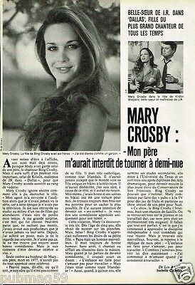 Coupure de presse Clipping 1982 (1 page)  Mary Crosby