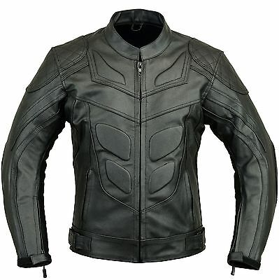 Batman Motorbike Leather Jacket Motorcycle Racing Protection Jacket