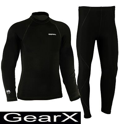All Weather Motorcycle Base Layer Motorbike Under Suit Sports Shirt Trousers