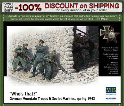 """Master Box 3571 """"Who""""s That!"""" WWII Era German & Soviet Soldiers 6 Figures 1/35"""
