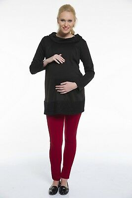 NEW Pullover Maternity Knit Blouse Maternity Sweater Size 38 - 44 Black
