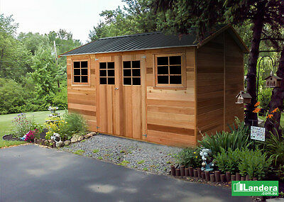 """Cedar Shed """"Willow"""" 8x12 ft (2.5Mx3.6M) Large timber / wooden garden shed."""