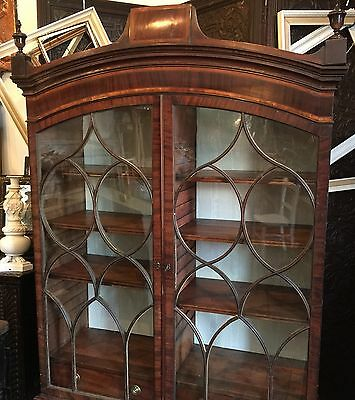 Antique Georgian Glass Bookcase Mahogany