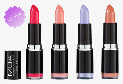 MUA Make Up Academy NEW! Lipstick Shades 2016 Nude Pink Violet