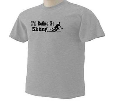 Off Duty Downhill Skier Logo Mens Tee Shirt Pick Size Color Small-6XL