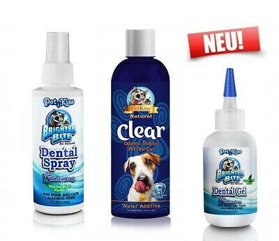 Petkiss Anti Zahnstein/Plaque Kombi Spray + Additiv + Gel zum Sonderpreis