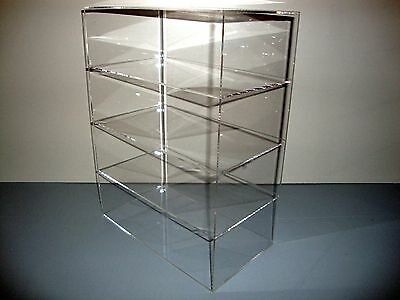 "Acrylic Lucite Countertop Display Case ShowCase Box Cabinet 12"" x 8"" x 16"""