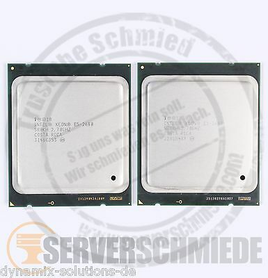 2x Intel XEON E5-2680 SR0KH Octa Core CPU 8x 2,70 GHz 2011 8 Core Matched Pair