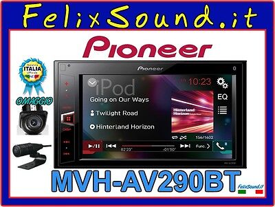 Pioneer Mvh-Av290Bt Autoradio 2Din Bluetooth Iphone Aux + Omaggio Retrocamera