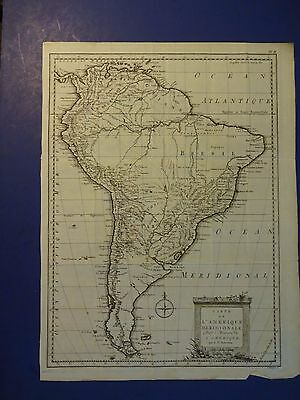 Nice Map of South America by H. Klockhoff 1778/Pub. by Dr. Robertson