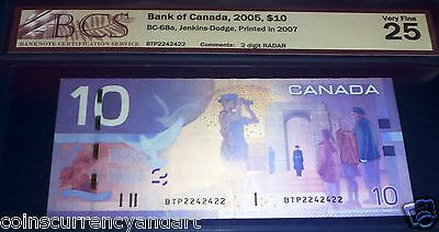 2242422  RADAR 2- DIGIT  Bank of Canada 2005  $10