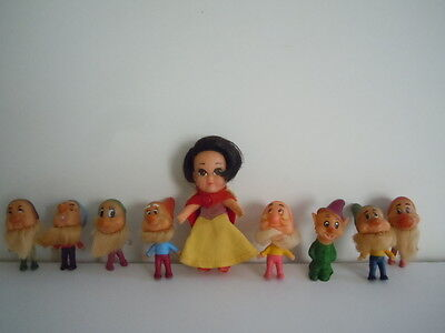 Super Rare Kiddle Storykins Snow White And 7 Dwarfs + A Super Rare Professor
