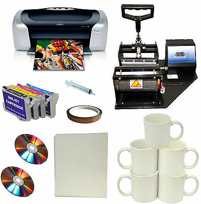 DIY Mug Heat Press,Epson Printer,Bulk ink,Refil Cartridge,Mug,Transfer Paper Kit