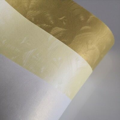 20 x A4 Heart single side Metallic   paper  for invitation & craft 120GSM