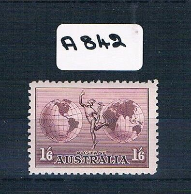 Australian Stamps 1/6d Hermes No watermark 1 Value MUH   A842