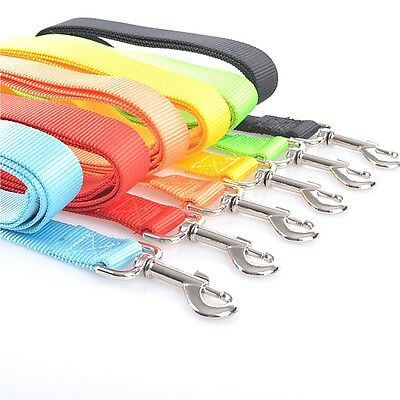 120cm Strong Nylon Dog Pet Lead Leash with Clip for Collar Harness 5 Colours New