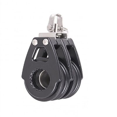 Pulley Block High Performance Double Swivel - 57mm