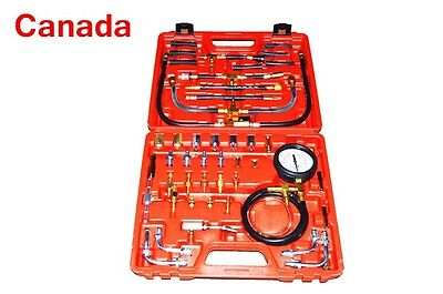 Car Engine Fuel Injector Pressure Testing Tool Kit Set COMBUSTION GAUGE TESTER