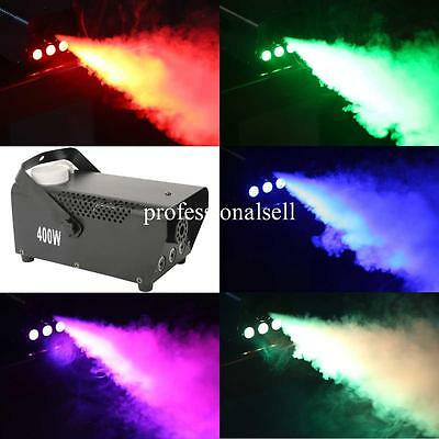 RGB LED Light Effect Fog Smoke Machine Thrower DJ Party Stage Remote Controller