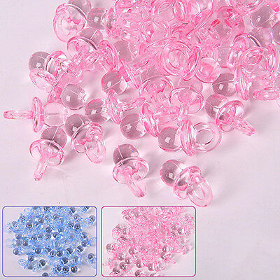 50X Mini Pacifiers Baby Girl Boy Nipple Shower Party Cake Decorations Precious