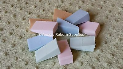 Reborn Baby Supplies Doll Painting Wedges Sponge Pack of 10 Skin Effect Cosmetic