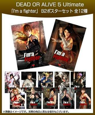 Dead or Alive 5 Ultimate B2 Poster Complete set of 12 Koei Tecmo Games New