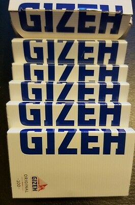 Brand New Lot of 5x100 Booklets Gizeh Original 100 Rolling Papers Magnet Pack