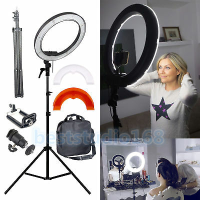 450W Photography Studio Soft Umbrella Continuous Lighting Stand Bulb Kit White