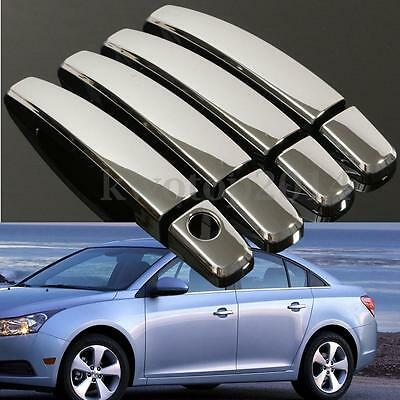 8Pcs Chrome Door Handle Cover Shell For 2010-2015 Chevy Malibu 2009-2015 Cruze