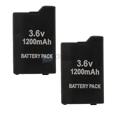 2X New 3.6V 1200mAh Replacement Battery Pack for Sony PSP 2000 3000 Console UK
