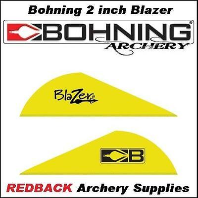 Bohning 2 inch Blazer Neon Yellow 36 pack  for arrows archery hunting
