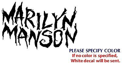 Marilyn Manson Metal Music Rock Band JDM Vinyl Sticker Decal Car Window Wall 7""