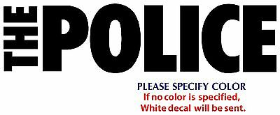 POLICE Metal Music Rock Band Funny JDM Vinyl Sticker Decal Car Window Wall 12""