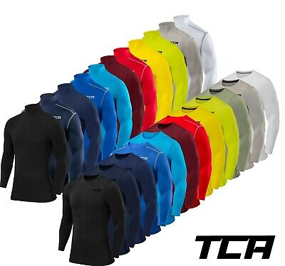 TCA Mens & Boys Pro Performance Base Layer Compression Top - Long & Short Sleeve