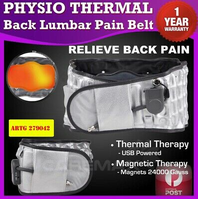 Dr Physio THERMAL Back Belt Ho Lumbar Support Decompression Pain AirTractionHEAT