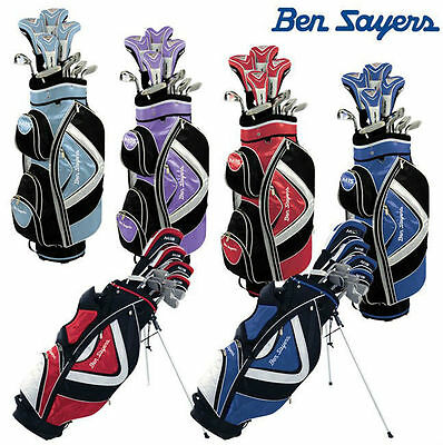 Ben Sayers M15 Complete Golf Package Set Mens/Ladies Stand/Cart Bag Grp/Stl