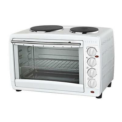 Igenix White Electric Mini Cooker / Table Top Oven with Hob - 45L IG7145
