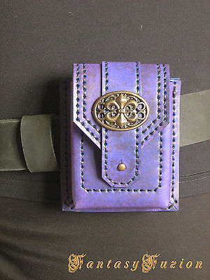Victorian Fashion Classy Colorful Leather Belt Pouch Case Wallet