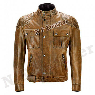 New Belstaff Inspired Biker Hand Waxed Leather Vintage Motorcycle Jacket