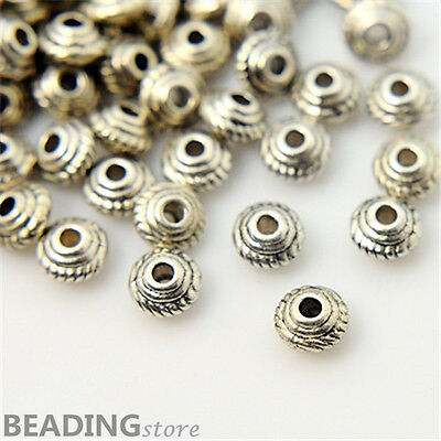 1000pcs Tibetan Silver Bicone Spacer Beads Jewellery Craft Findings 5x3mm
