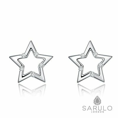 Star Studs Sarulo 925 Sterling Silver New Fashion Earring Jewelry Gift Box Hot