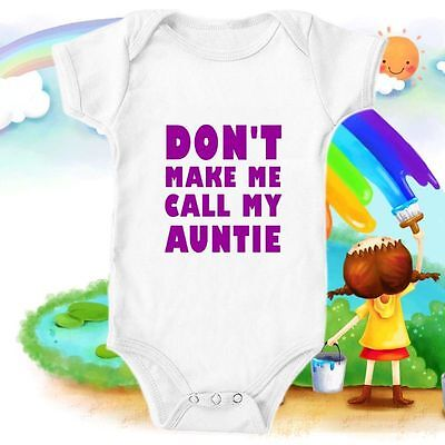 Auntie Uncle Cute Custom Bodysuit Baby Vest Gift Funny #26