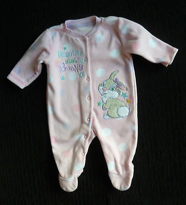 Baby clothes GIRL 0-3m Disney Thumber rabbit pink soft fleecy sleepsuit SEE SHOP