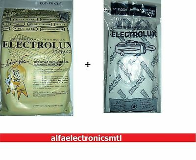 ELECTROLUX, 12 vacuum bags, 4ply wall, type C + 2 exhaust filters