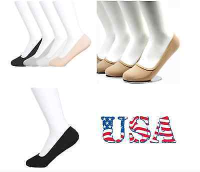 3 Pairs Plain Liner Loafer Boat Socks Footie No Show Ballet Womens Girl's New