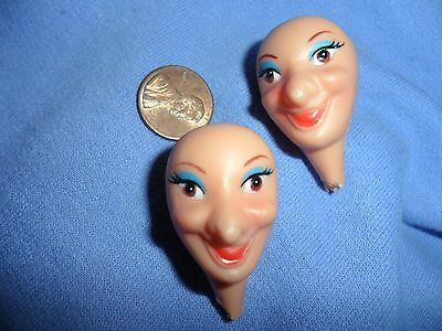 Vintage Small Witch Heads
